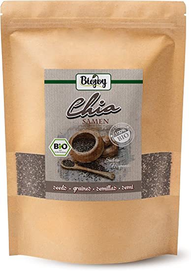 Biojoy Semillas de Chia Organicas, Salvia hispanica (1 kg): Amazon ...
