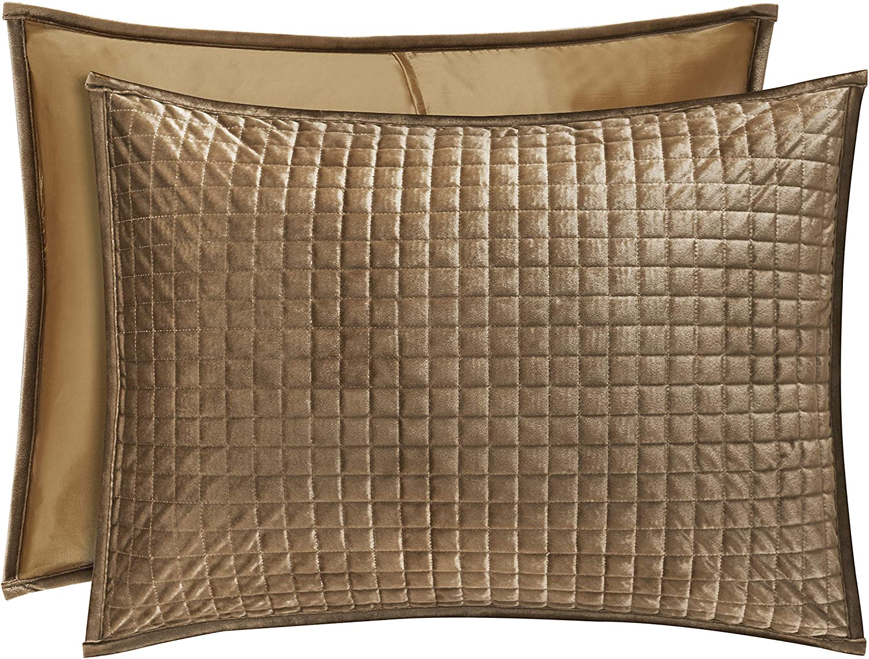 Five Queens Court Gordon - Coverlet Quilted Pillow Sham, Gold