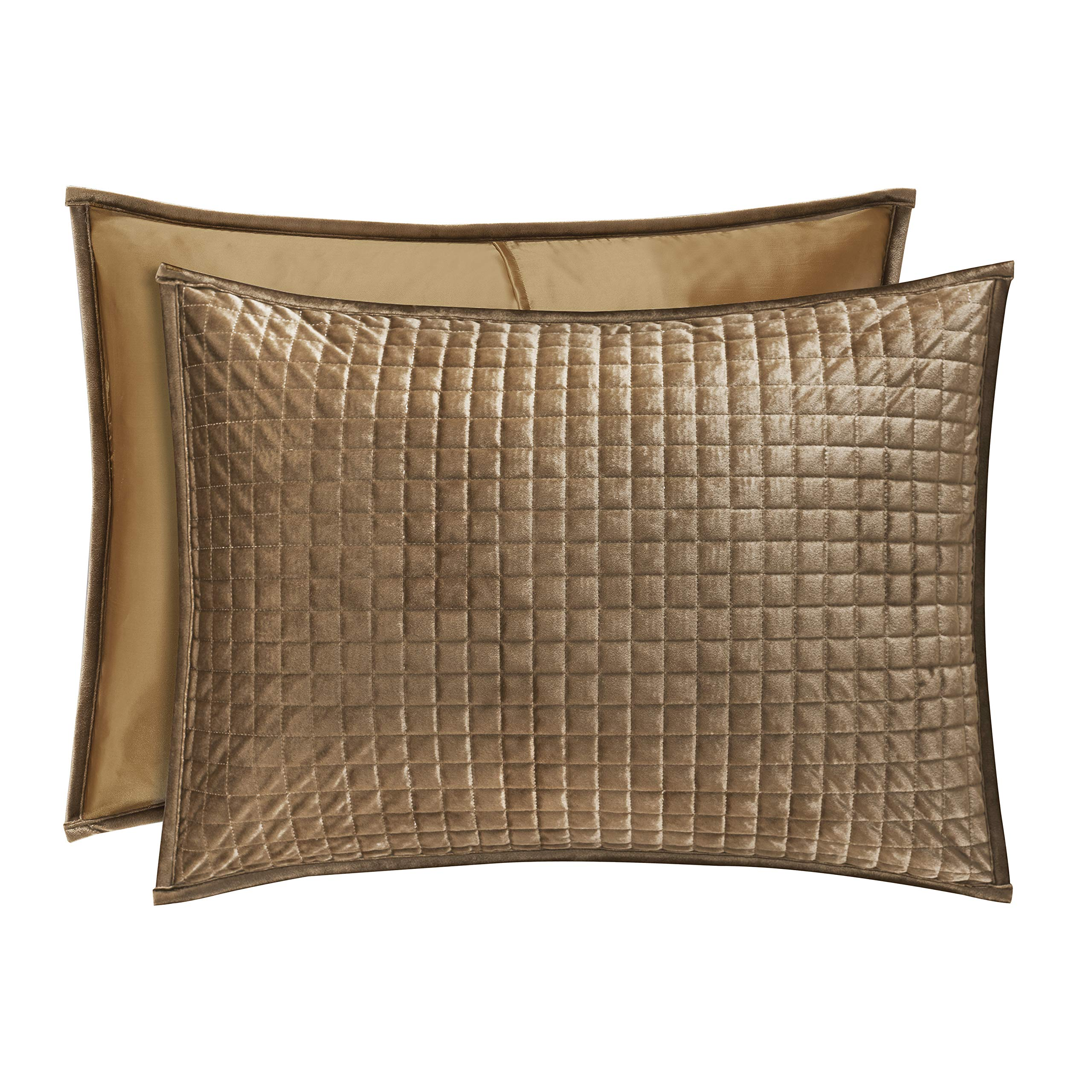 Five Queens Court Gordon - Coverlet Quilted Pillow Sham, Gold by Five Queens Court