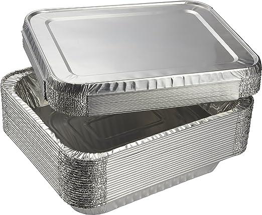 3/x cuadrado aluminio Asar/ /21/x 21/x 5/cm desechables Catering Bandeja para el horno entrega gratuita