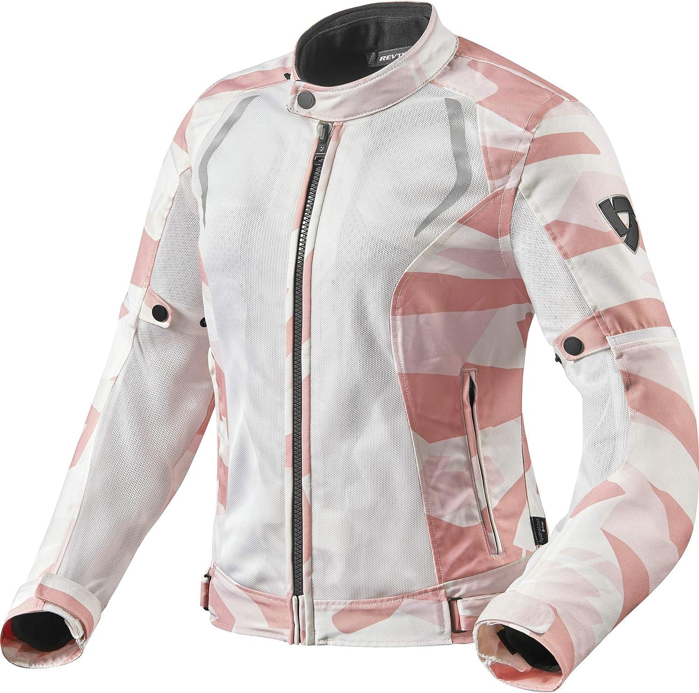 Sportler Motorradjacke mit Protektoren Motorrad Jacke Torque Damen Textiljacke Polyester REVIT Ganzj/ährig