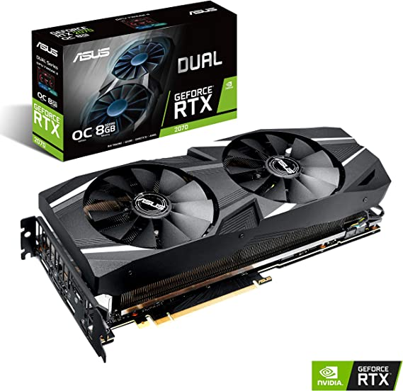 ASUS GeForce RTX 2070 DUAL O8G OC 8GB GDDR6: Asustek: Amazon.es ...