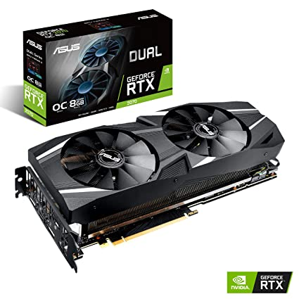 Amazon.com: ASUS GeForce RTX 2070 Overclocked 8G GDDR6 Dual-Fan Edition VR Ready HDMI DP 1.4 USB Type-C Gaming Graphics Card (DUAL-RTX-2070-O8G): Computers ...