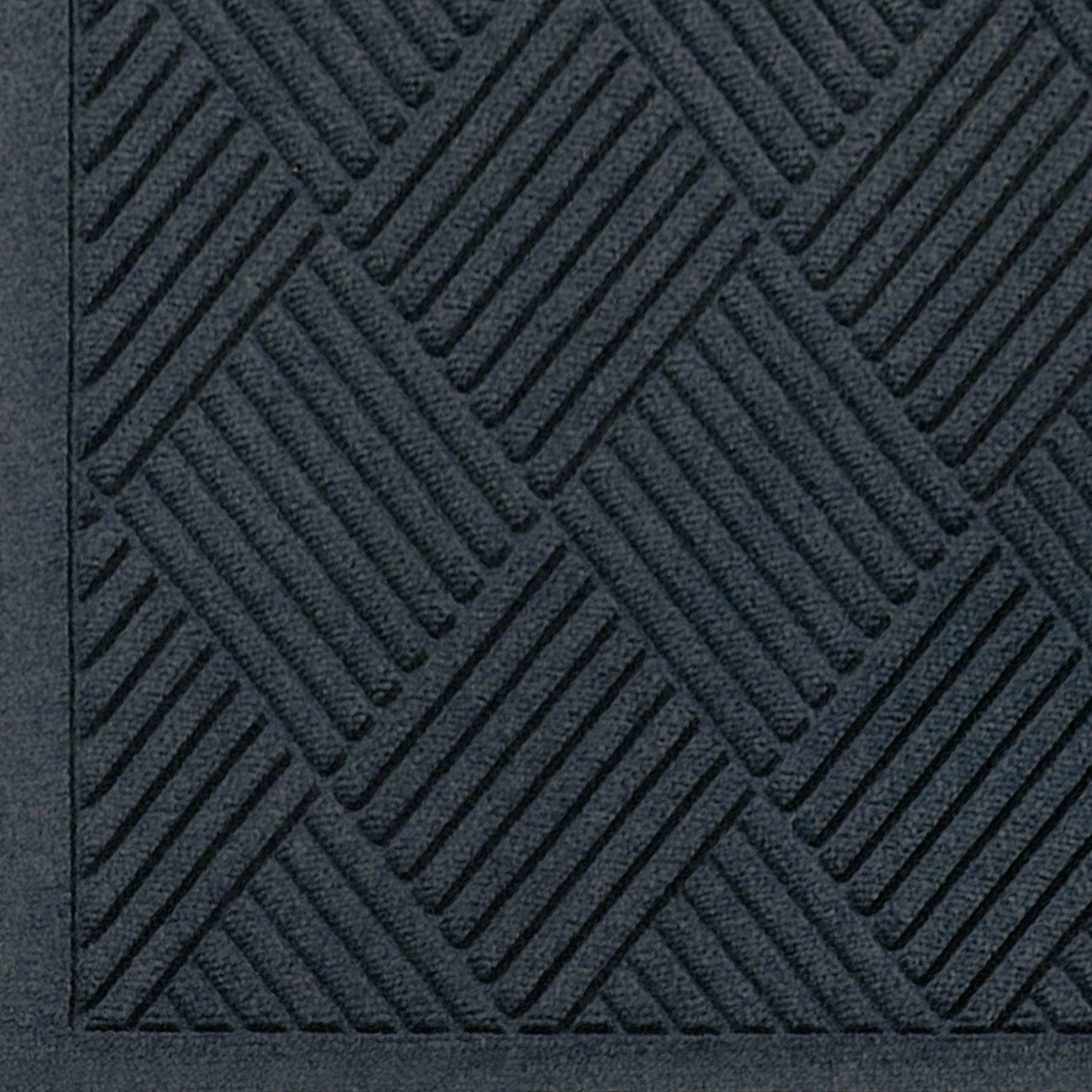 WaterHog Fashion Diamond-Pattern Commercial Grade Entrance Mat, Indoor/Outdoor Medium Brown Floor Mat 3' Length x 2' Width, Charcoal by M+A Matting by M+A Matting