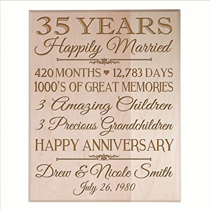 Amazon Personalized 35th Anniversary Gifts For Him Her Couple