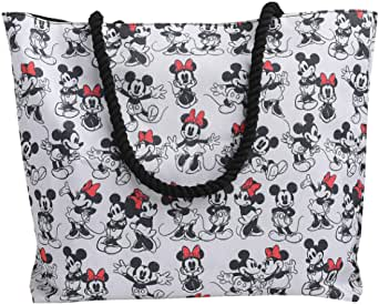 Disney Tote Travel Bag Mickey and Minnie Mouse Print