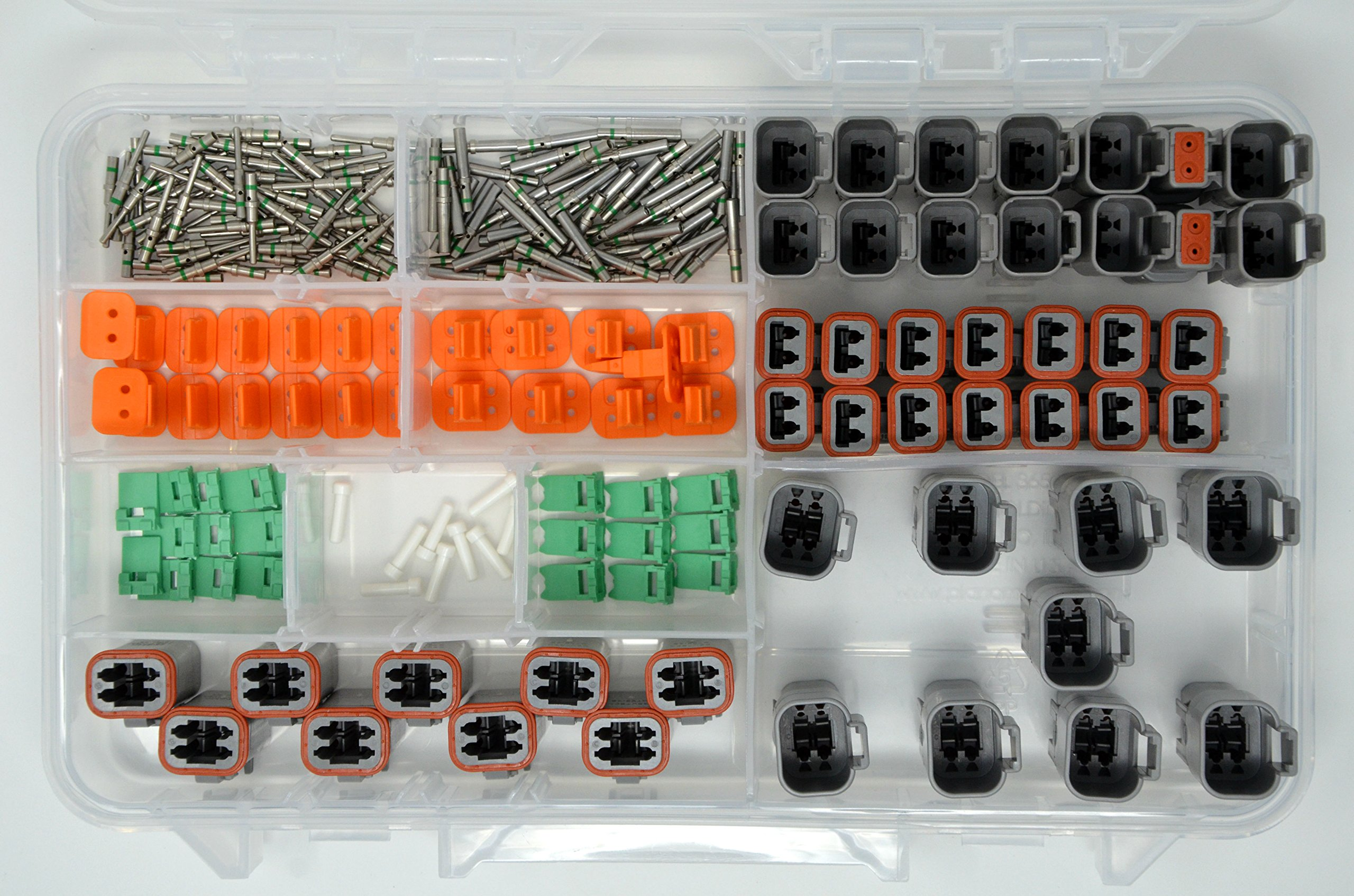 DEUTSCH 230 PCS DT 2 & 4 PIN GRAY CONNECTOR KIT SOLID CONTACTS by Deutsch