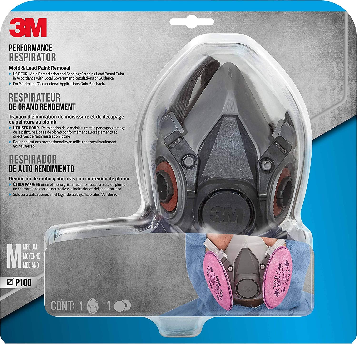 Respirator Removal Mold 3m - And Lead 6297pa1-a Paint Medium