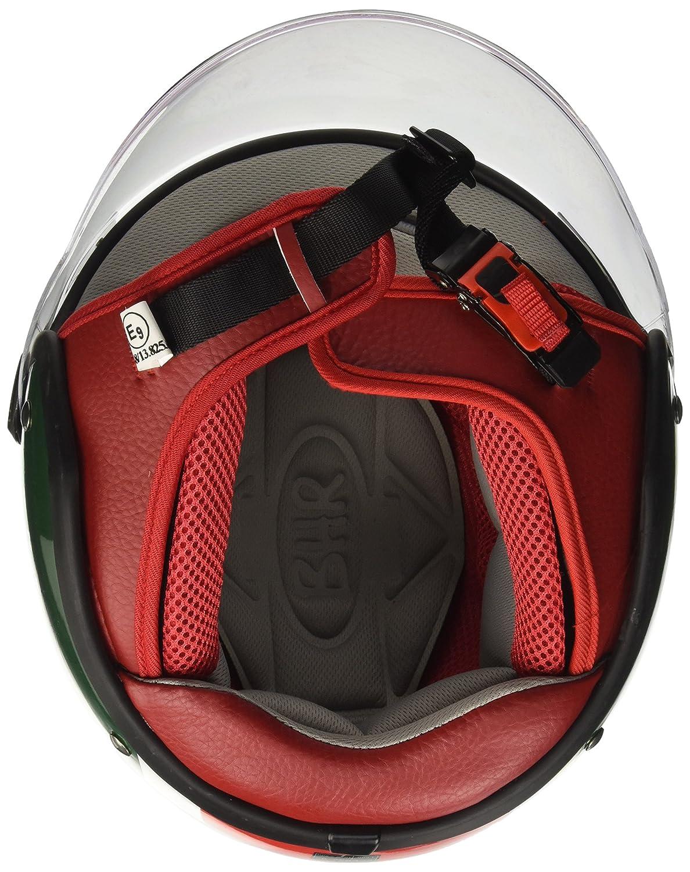 Talla 57//58 BHR 93793 Demi-Jet Cool Italy 710 Casco de Moto M