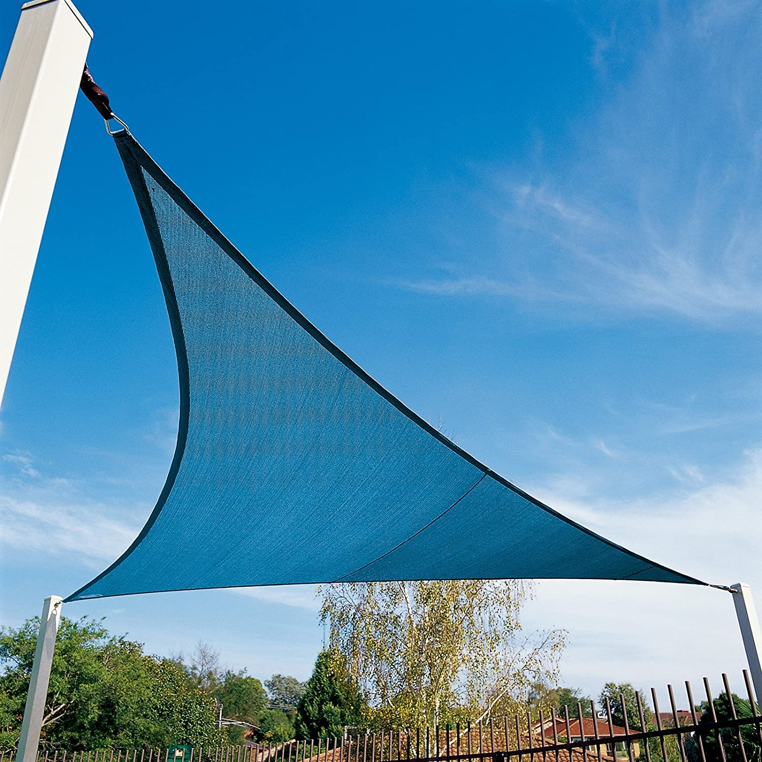 Coolaroo 473891 Coolhaven Triangle Shade sail, 18 , Sapphire