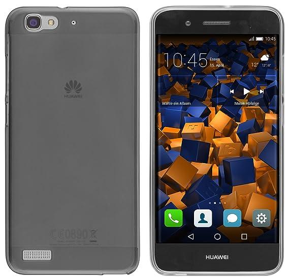 mumbi Schutzhülle für Huawei GR3 / P8 Lite Smart Hülle transparent schwarz