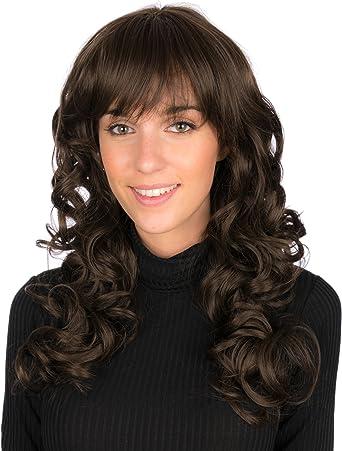 Secretdressing Cheveux Long Boucles Avec Filet Postiche Femme Avec Frange Coupe Pres Des Sourcils Noir Amazon Fr Vetements Et Accessoires
