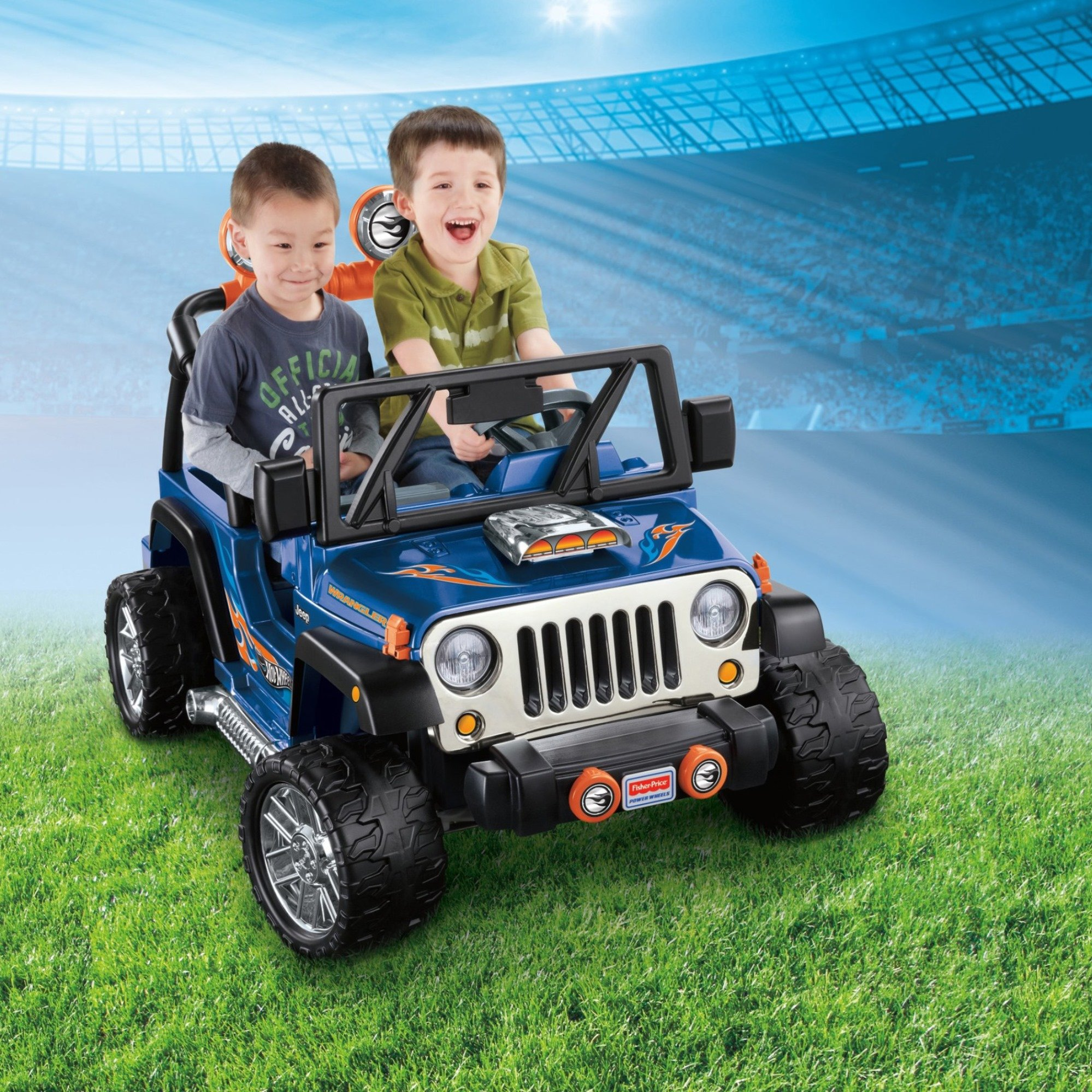 Power Wheels Hot Wheels Jeep Wrangler, Blue (12V) by Power Wheels (Image #2)
