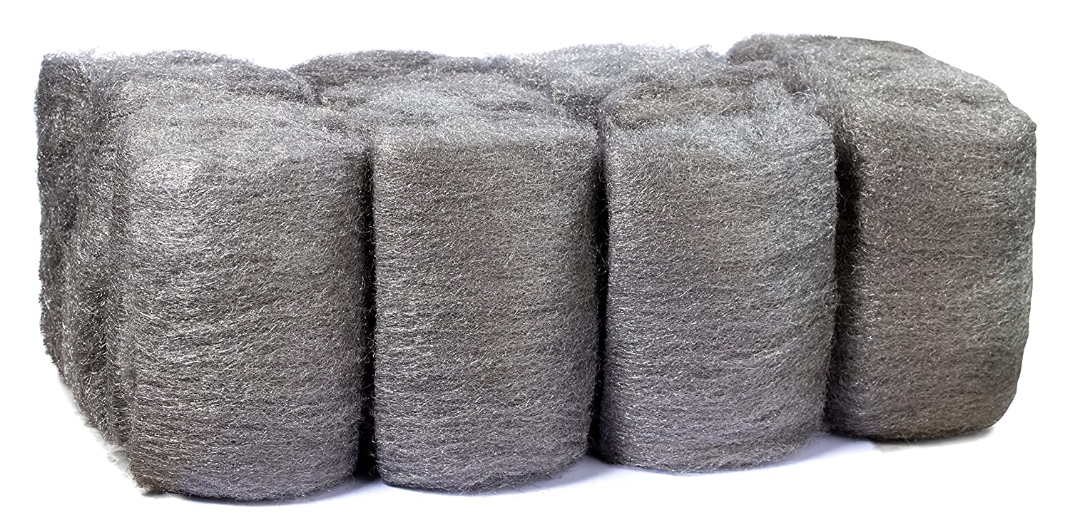 16 Pads Steel Wool, Very Fine No. 0000, Finest Grade, High-Quality Scouring Pad, for Cast Iron, Dishes, Pots, Pans and for All-Purpose. Supply Guru