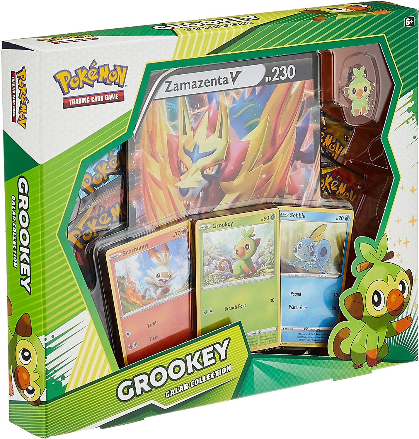 Pokemon TCG Polteageist V Box Collection Sword /& Shield 4 Booster Packs