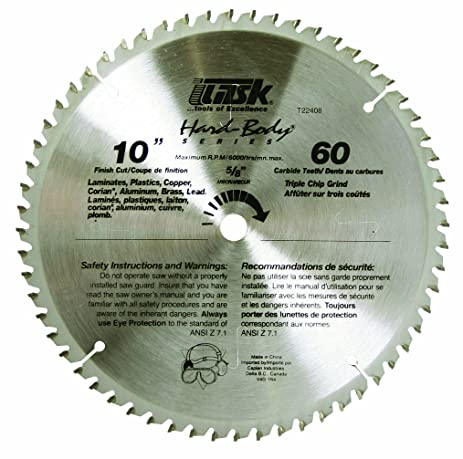 Task tools t22408 10 inch hard body carbide saw blade plastic and task tools t22408 10 inch hard body carbide saw blade plastic and non greentooth Images