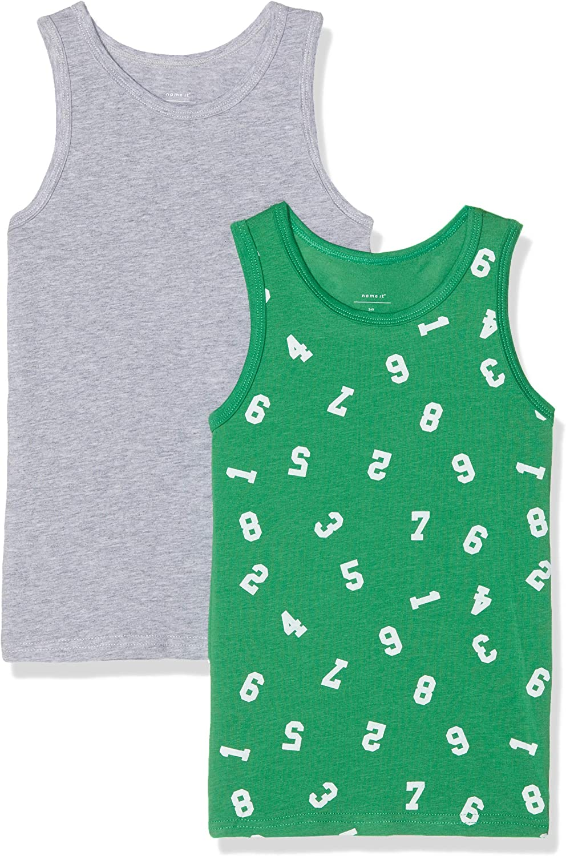 104 Gr/ün Medium Green Pacco da 2 Name It Nmmtank Top 2p AOP Noos Vestaglia Bimbo Multicolore