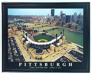 Framed Pittsburgh Pirates Baseball PNC Park Aerial Print F7524A