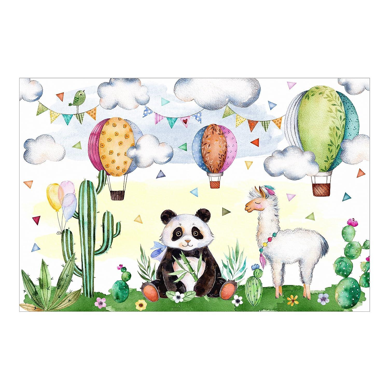 Kindertapete - Panda und Lama Aquarell - Vlies Fototapete Fototapete Fototapete Breit, Größe HxB  190cm x 288cm 69e38c