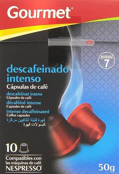 Gourmet Descafeinado Intenso Cápsulas de Café - Pack de 10 x 5 g - Total: