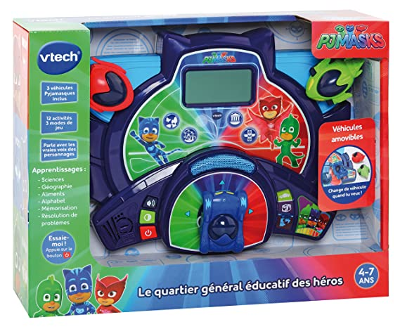 VTech Pyjamasques - le quartier General educatif Des Heros Niño - Juegos educativos (AA, 400 mm, 133 mm, 305 mm, 1,2 kg): Amazon.es: Juguetes y juegos
