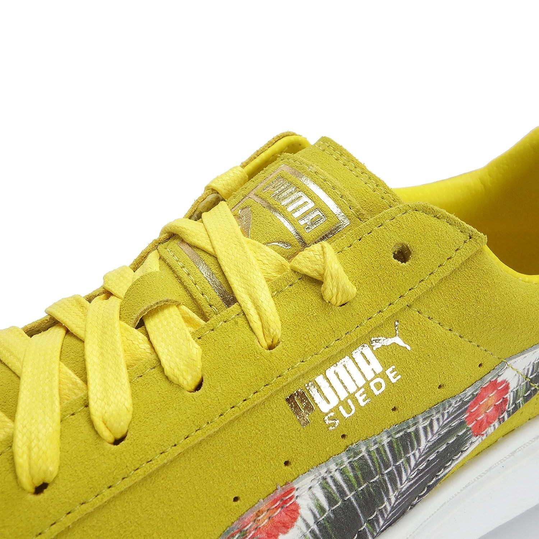 new concept e8dd5 ec0ee Puma 364731 01, Baskets Mode Pour Fille Dandelion-B Olive-Gold-White - -  Dandelion-B Olive-Gold-White, 38 EU  Amazon.fr  Chaussures et Sacs