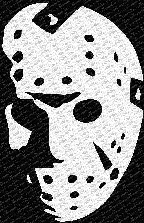 Collectible Decals Friday The 13th Jason Vorhees Hockey Mask Die Cut Vinyl Decal Sticker (10