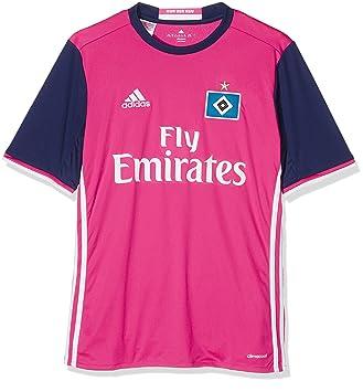Adidas Hambugo JSY Y Camiseta 2º equipación del Hamburgo SV, Niños, Rosa/Blanco, 9-10 años: Amazon.es: Deportes y aire libre