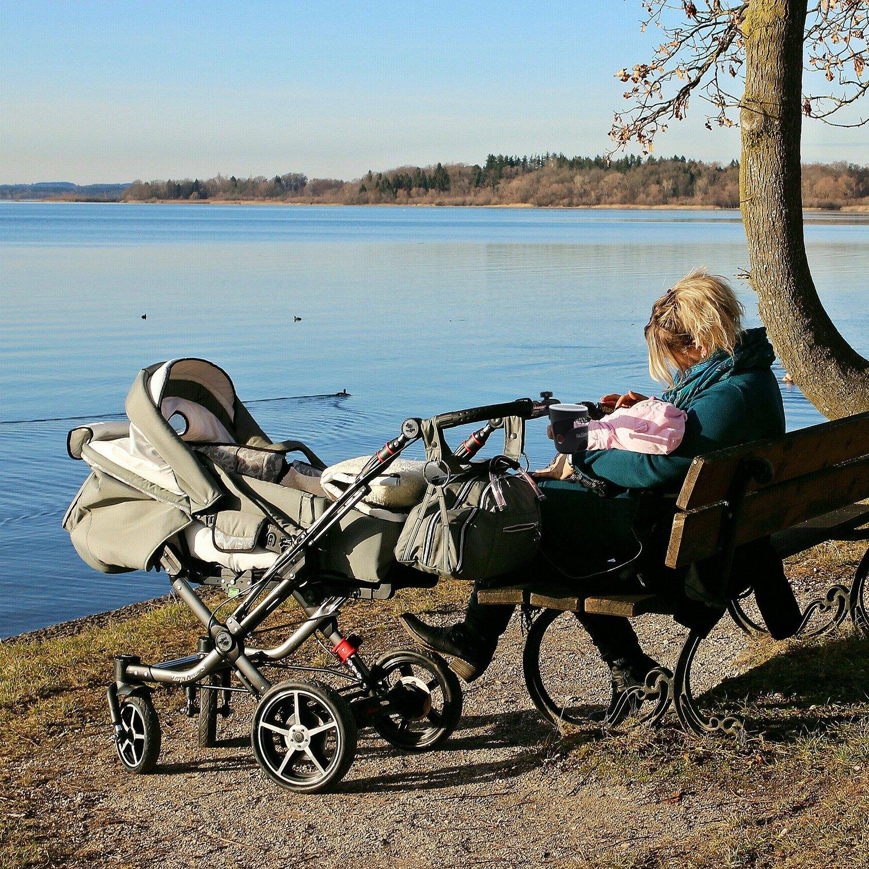 fijo y seguro TALINU portavasos para carritos y sillas de coche para beb/é apto para biberones con un di/ámetro de 60-80mm botellas de agua yvasos de caf/é