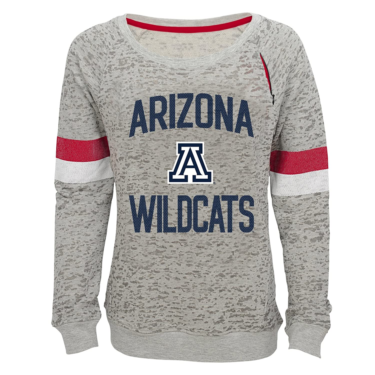 NCAA by Outerstuff NCAA Arizona Wildcats Youth Girls My City Boat Neck Pullover 14 Youth Large Heather Grey