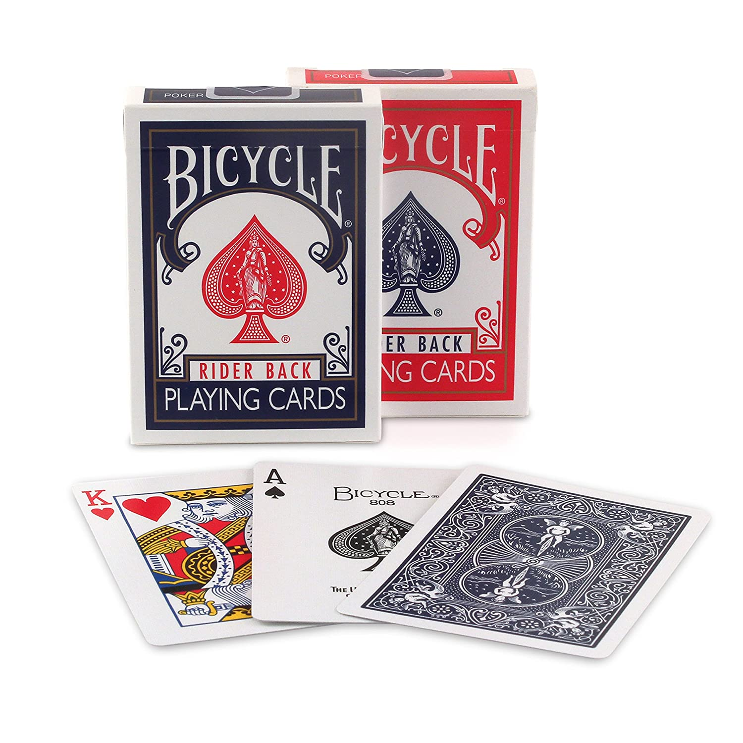 bicycle rider back index playing cards colors may