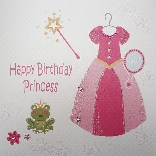 White Cotton Cards Tarjeta de diseño de Princesas Disney ...