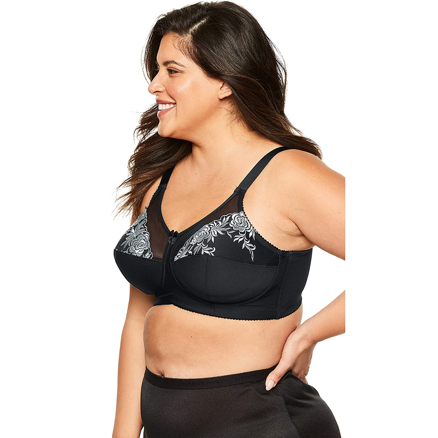 1cb6ac07cf7 Elila Women s Plus Size Full Coverage Lace Softcup Bra at Amazon Women s  Clothing store