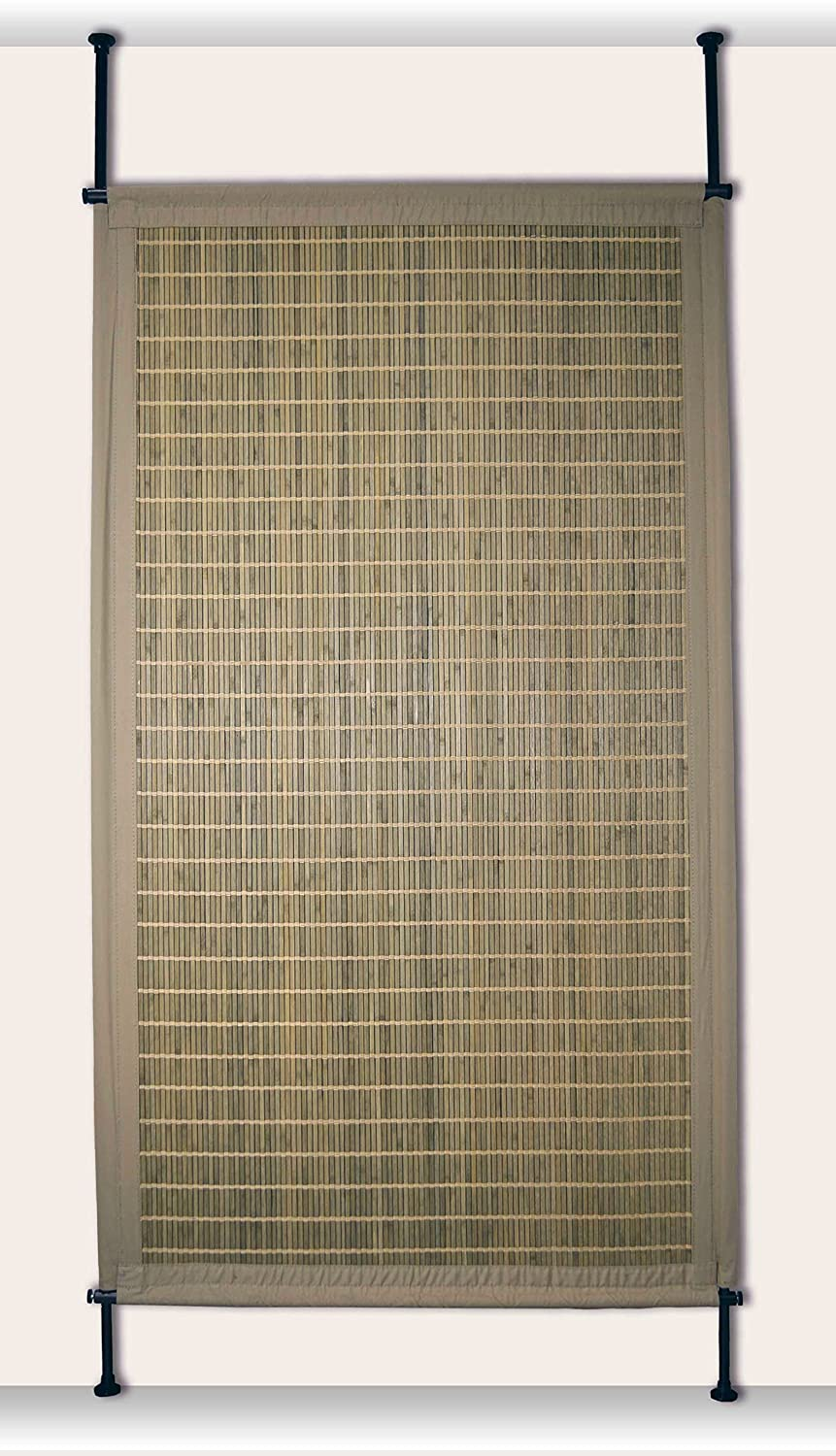Driftwood 38 x 68 Versailles Home Fashions PP014-25 Bamboo Privacy Panel