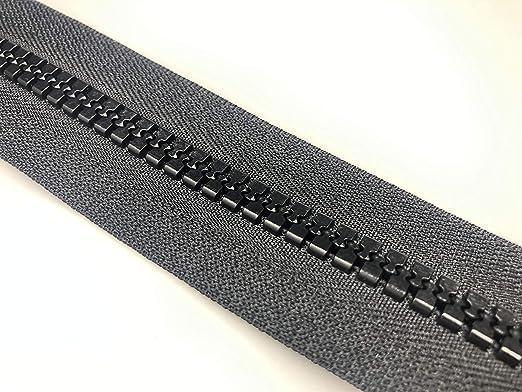 Dientes de pl/ástico negro n./º 8 cremalleras de extremo abierto varias longitudes con cremallera 27,5 pulgadas - 70 cm
