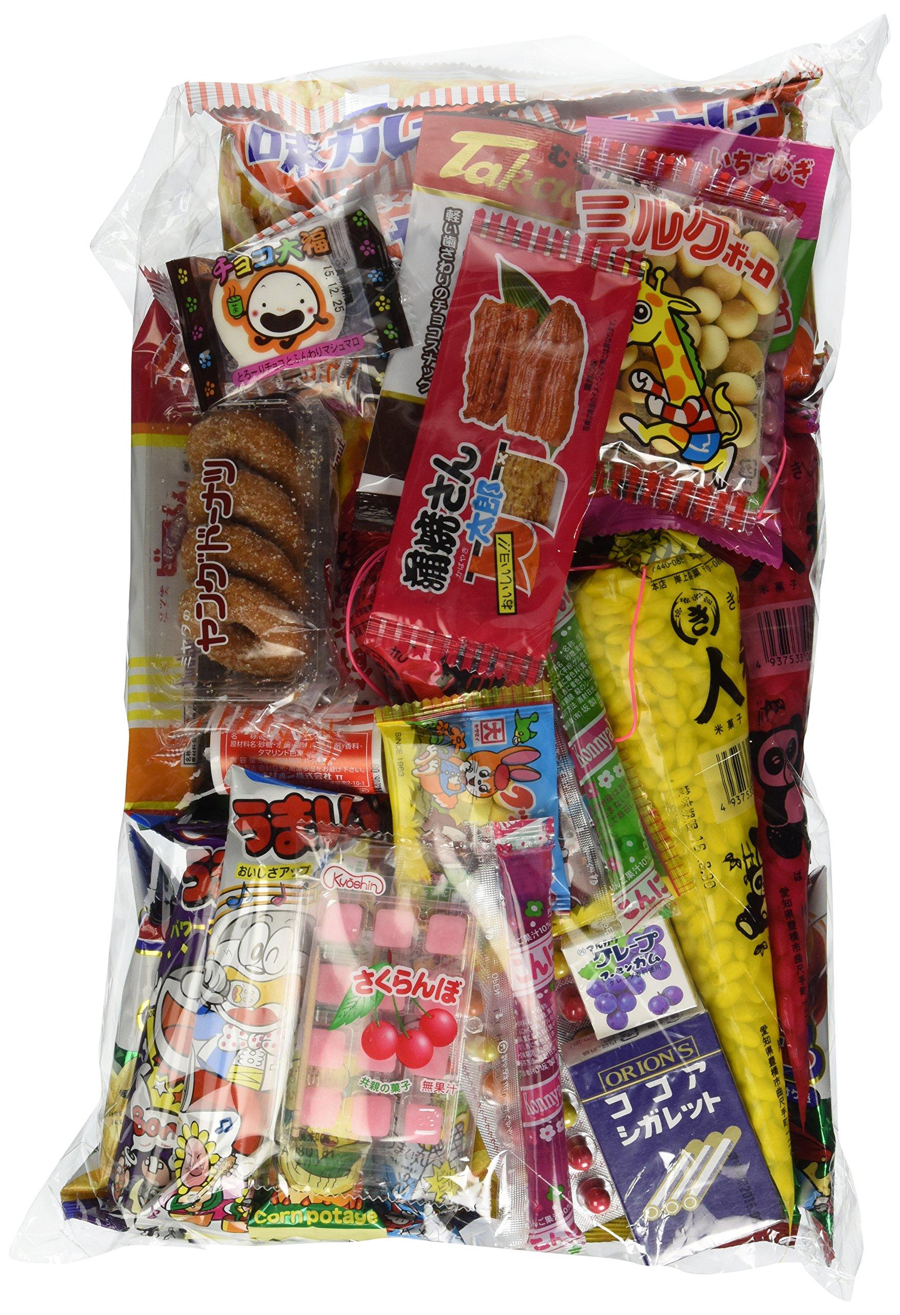 "Assorted Japanese Junk Food Snack ""Dagashi"" Economical 45 Packs of 30 Types"