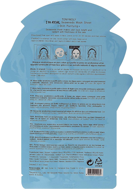 TonyMoly - Im Real Seaweeds Mask Sheet: Amazon.es: Belleza