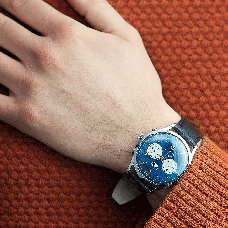 Henry London Reloj Analógico para Unisex de Cuarzo con Correa en Cuero 5018479078173: Henry London: Amazon.es: Relojes