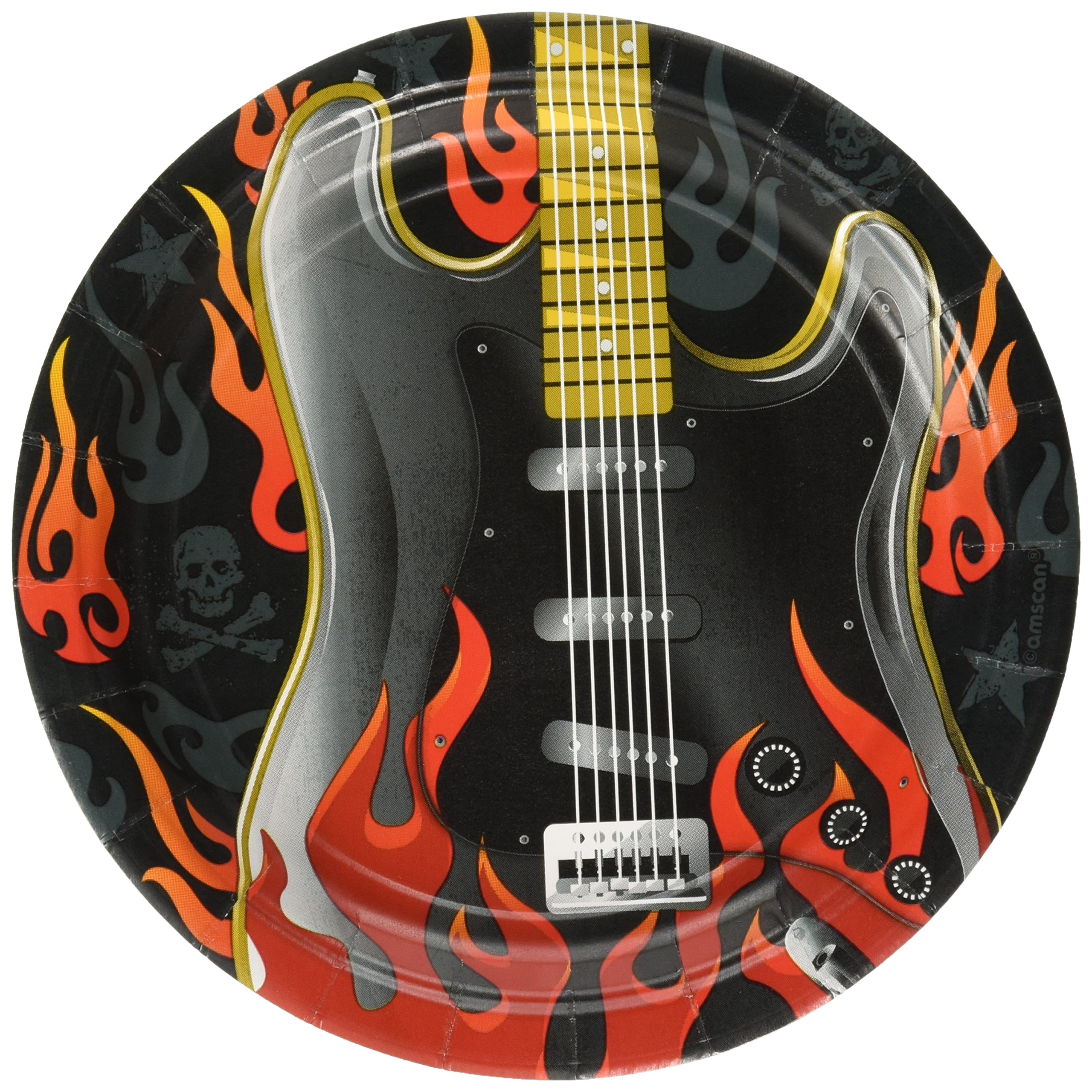 Amscan Rock On Party Plates, 7'', 96 Ct.