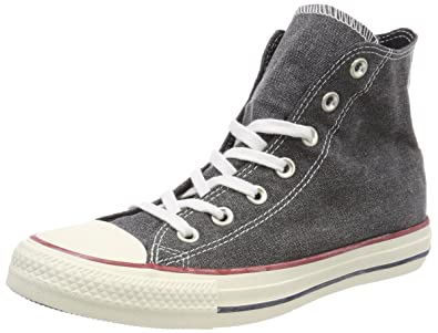 402047dce77e Converse Unisex Adults  CTAS Hi Black White Top Trainers  Amazon.co ...