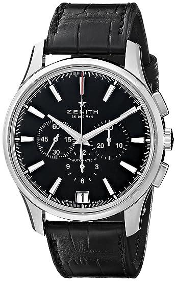 Zenith hombre 032110400.22 C el primero Pantalla analógica Swiss - Reloj automático negro: Amazon.es: Relojes