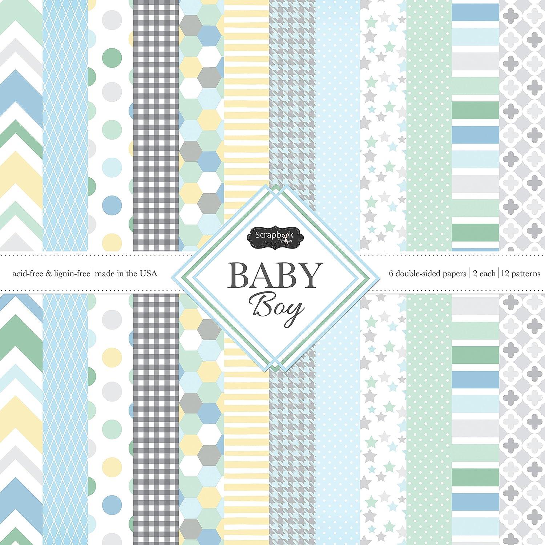 Amazon Scrapbook Customs Themed Paper Scrapbook Kit Baby Boy