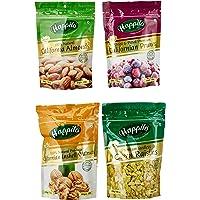 Happilo Premium Combo, 850g (California Almonds, 200g, Raisins, 250g, Prunes, 200g, inshell Walnuts, 200g)