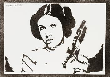 Poster Princesse Leia STAR WARS Affiche Handmade Graffiti Street Art - Artwork