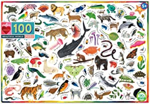 eeBoo Beautiful World Jigsaw Puzzle for Kids, 100 Pieces