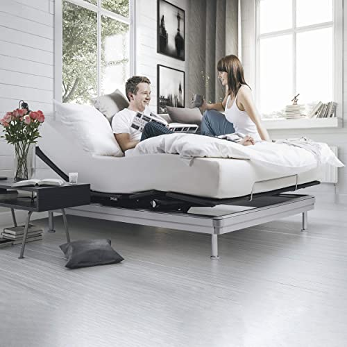 Yaasa Luxe Adjustable Bed Frame Queen Anti-Snore
