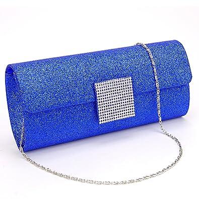 8c4bf9c637df0 Luxus Damen Handtasche Brauttasche Abendtasche Hochzeit Party Clutch Tasche  Bag hell blau  Amazon.de  Schuhe   Handtaschen