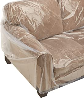 Heavy duty clear plastic sofa covers hereo sofa for Plastic furniture covers for storage