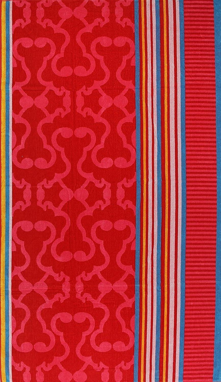 XXL terciopelo Toallas - toalla de playa 180 x 100 cm, algodón, Dessin 1, 180x100 cm: Amazon.es: Hogar