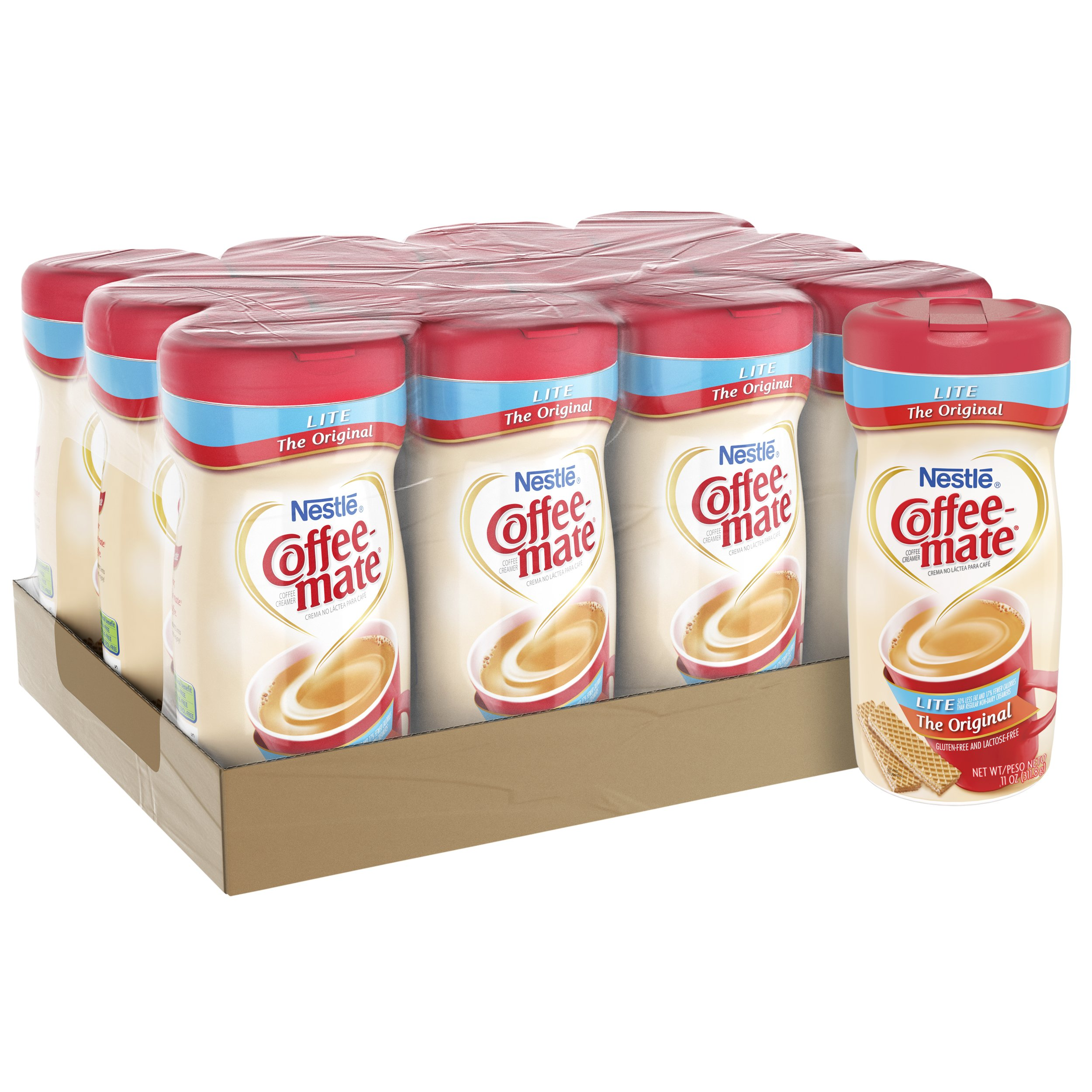 Nestle Coffee-mate Coffee Creamer, Original Lite, 11oz powder creamer, Pack of 12